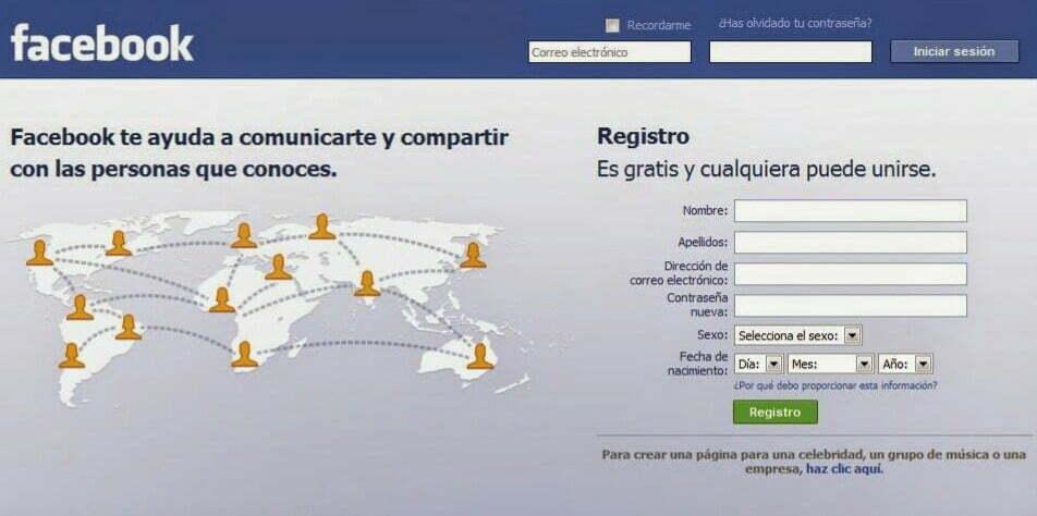 Como crear una cuenta en Facebook? - Guia Alfa